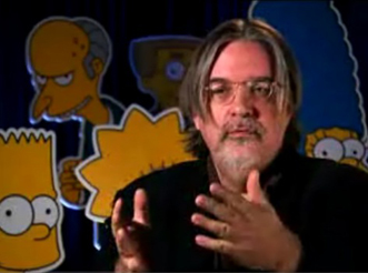Matt Groening giving an interview