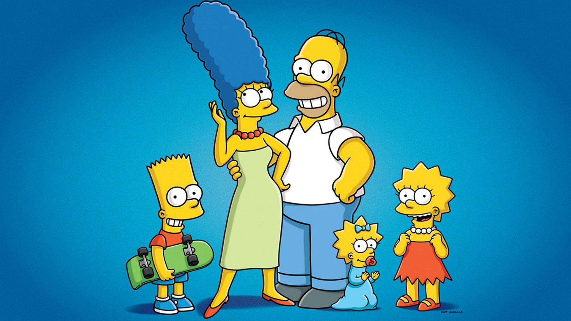 An image of the Simpsons
