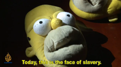 homer simpson is the face of slavery